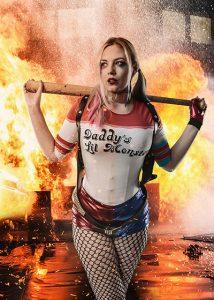 cinematic portrait - Harley Quinn theme