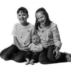 family portrait - family of 3 children
