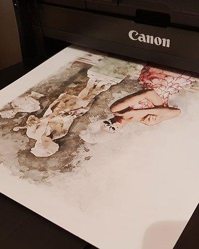 JMW Imaging, image coming off the printer